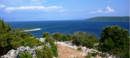 Trogir, agricultural land on island Drvenik Veliki, with beautiful view of sea and islands