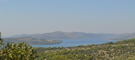 Trogir, Island Čiovo, building land on the top of Island with marvelous sea view