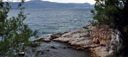 Trogir, Slatine. One of the last, sea front building land plots