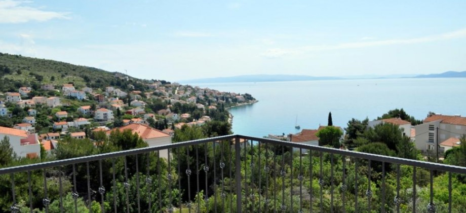Trogir, Island Ciovo for sale new apartments with two bedrooms, wonderful sea view!