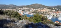 Trogir-Marina, for sale building land  plot with panoramic sea view!