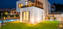 Luxury villa on the pebble beach