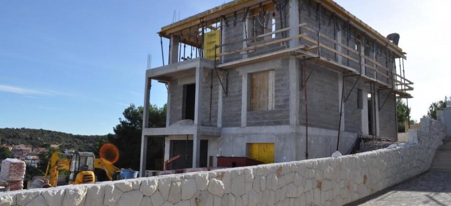 Rogoznica, villa in construction 3rd line from the sea