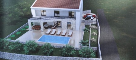 Dalmatian style house with swimming pool