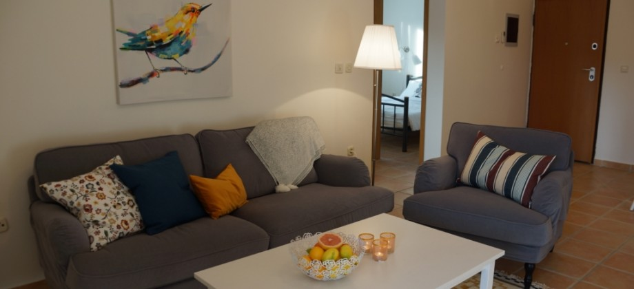 Apartments with large terrace 150 m from the beach
