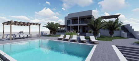 Modern villa first line to the sea