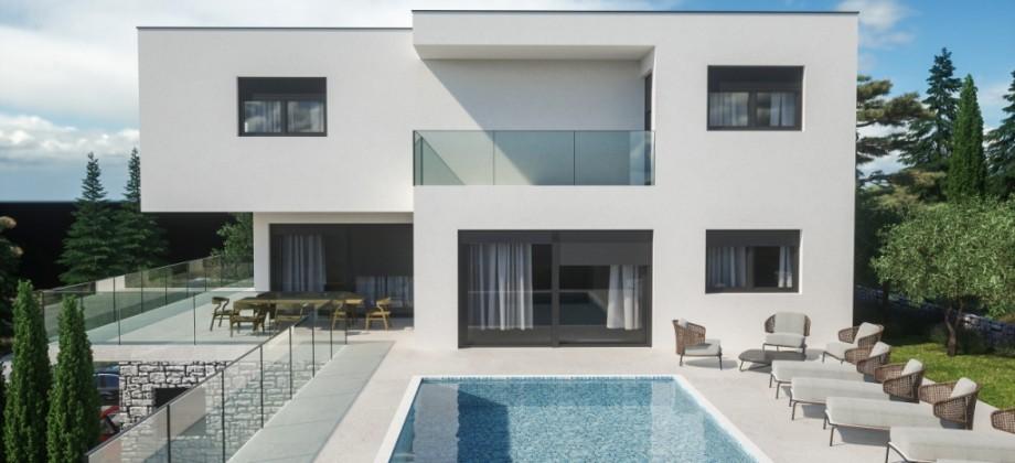 Rogoznica, luxury villa 2nd row from the sea