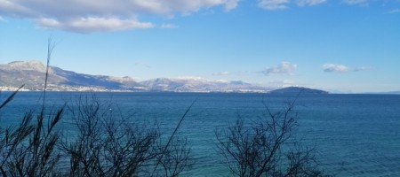 Attractive land by the sea with panoramic view on Split