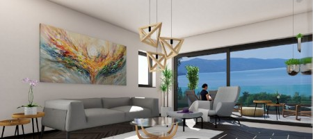 Okrug Gornji, three-bedroom penthouse with sea view for sale